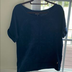 Juicy Couture Scoop Neck Embroidered Top